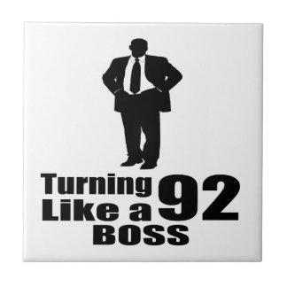 Turning 92 Like A Boss Tile