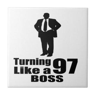 Turning 97 Like A Boss Ceramic Tile