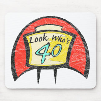 Turning Forty 40th Birthday Gifts Mouse Pads