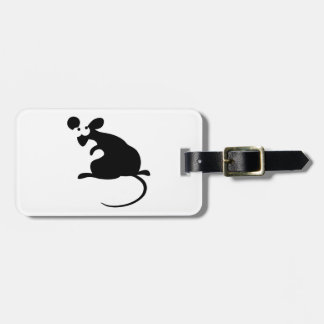 Turning round mouse bag tag