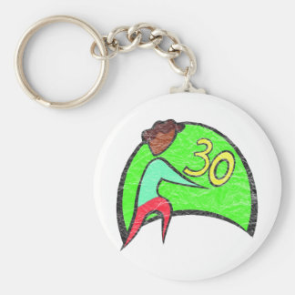 Turning Thirty 30th Birthday Gifts Basic Round Button Key Ring