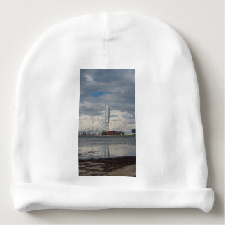 Turning torso beach malmö sweden baby beanie