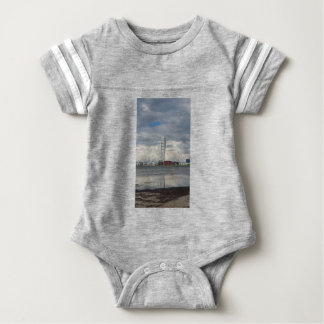 Turning torso beach malmö sweden baby bodysuit