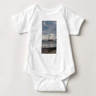 Turning torso beach malmö sweden baby bodysuit