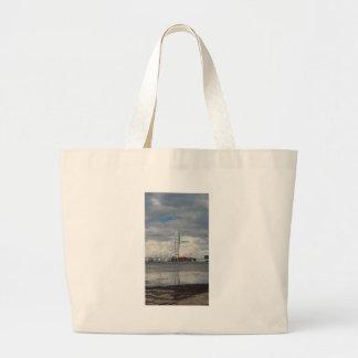 Turning torso beach malmö sweden large tote bag