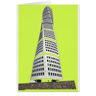 Turning Torso Variation High Quality Greeting Card
