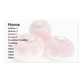 Turnips Pack Of Standard Business Cards