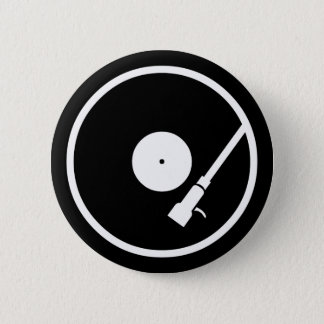 Turntable 6 Cm Round Badge