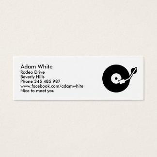 Turntable DJ Mini Business Card