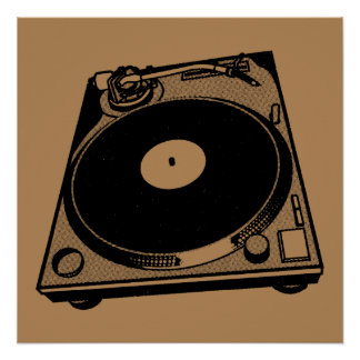 Turntable Graphic Poster