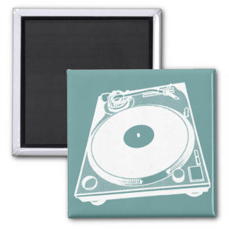 Turntable Graphic Square Magnet