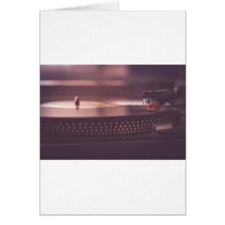 Turntable Music Record Vinyl Equipment Black Card