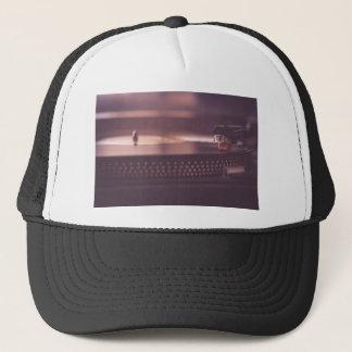 Turntable Music Record Vinyl Equipment Black Trucker Hat