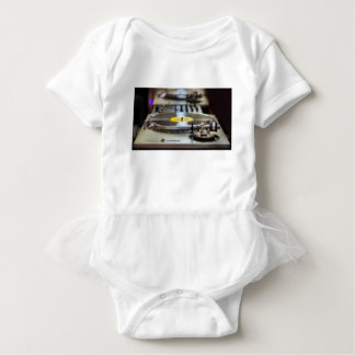 Turntable Record Vinyl Music Sound Retro Vintage Baby Bodysuit