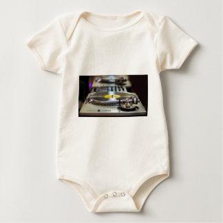 Turntable Record Vinyl Music Sound Retro Vintage Baby Bodysuit