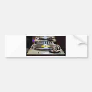 Turntable Record Vinyl Music Sound Retro Vintage Bumper Sticker