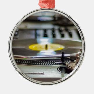 Turntable Record Vinyl Music Sound Retro Vintage Metal Ornament