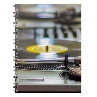 Turntable Record Vinyl Music Sound Retro Vintage Notebook