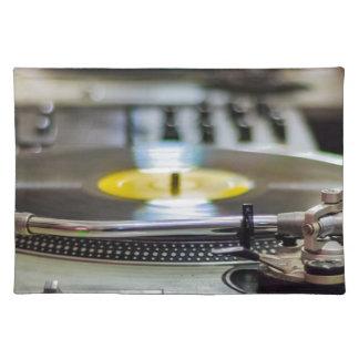 Turntable Record Vinyl Music Sound Retro Vintage Placemat