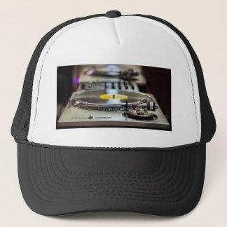 Turntable Record Vinyl Music Sound Retro Vintage Trucker Hat