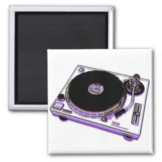 Turntable Square Magnet