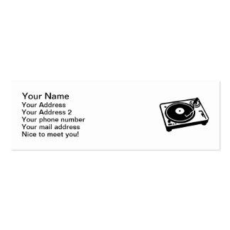 Turntable vinyl business card templates