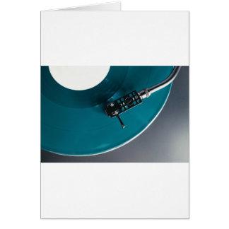 Turntable Vinyl Record Album Music Card