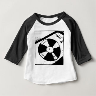 Turntable With Vinyl Record Baby T-Shirt