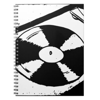 Turntable With Vinyl Record Notebooks