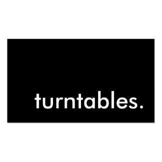 turntables. pack of standard business cards