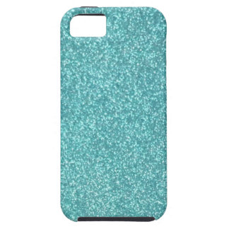 Turqouise Glitter iPhone 5s case