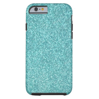 Turqouise Glitter iPhone 6 case