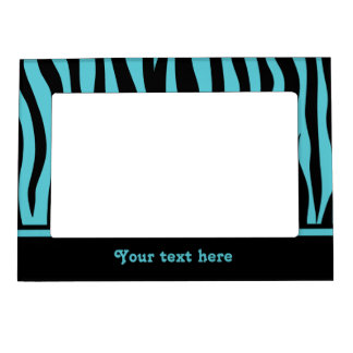 Turquiose and black zebra print to personalize magnetic frame