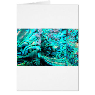 Turquoise abalone paua shell detail card
