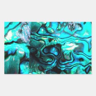 Turquoise abalone paua shell detail rectangular sticker