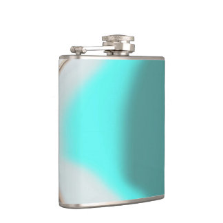 Turquoise Abstract Hip Flask
