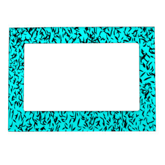 Turquoise abstract leaves frame