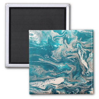 Turquoise Abstract Magnet