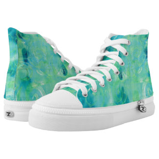 Turquoise  Abstract Monoprint  1702815 Shoes