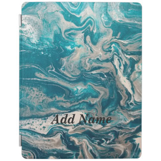 Turquoise Abstract Personalized iPad Case