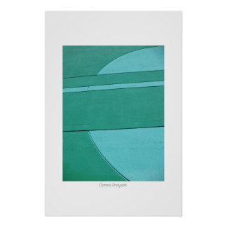 Turquoise Abstract Photograph Poster