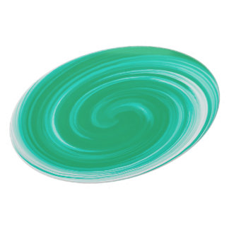 Turquoise Abstract Swirl Pattern Plate