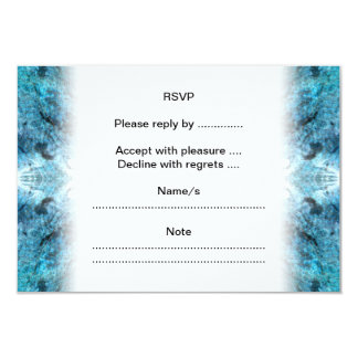 Turquoise Abstract, with some soft blurred edges. 9 Cm X 13 Cm Invitation Card