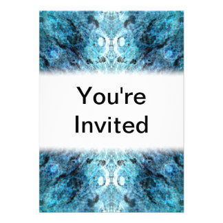 Turquoise Abstract, with some soft blurred edges. Personalized Announcements