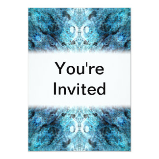 Turquoise Abstract, with some soft blurred edges. 13 Cm X 18 Cm Invitation Card