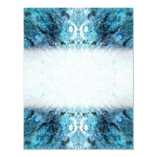 Turquoise Abstract, with some soft blurred edges. 11 Cm X 14 Cm Invitation Card