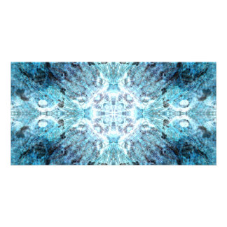 Turquoise Abstract, with some soft blurred edges. Photo Card Template