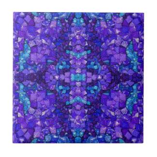 Turquoise and Amethyst Ceramic Tile