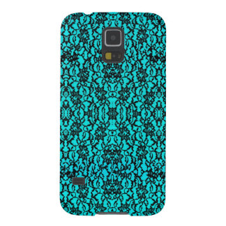 Turquoise and Black Lace Samsung Galaxy S5 Case