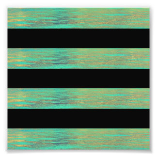 Turquoise and Black Stripe Abalone Photograph